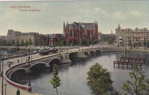 AMSTERDAM, Bird's Eye View, Street cars, Nieuwe Amstelbrug, North Holland, Ne...