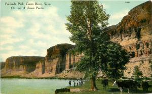 Advertising Palisades Park Green River Wyoming C1910 Union Pacific Railroad 5827