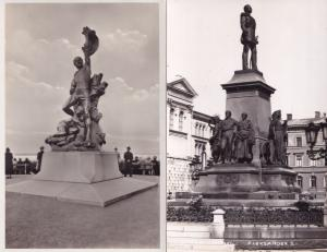 Helsinki Monument Tsar Aleksander II Finland 2x Real Photo Postcard