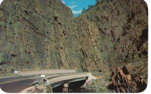 US    PC3963  CURVED BRIDGE BIG THOMPSON CANYON, ESTES PARK, COLORADO