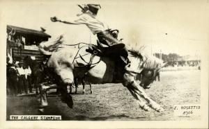 canada, CALGARY Stampede, Horse Rodeo (1940s) Rosettis RPPC No. 306