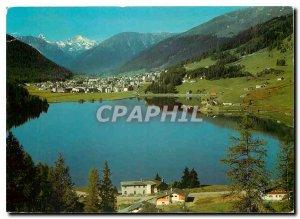Modern Postcard Blick auf Davos Davosersee Tinzenhorn