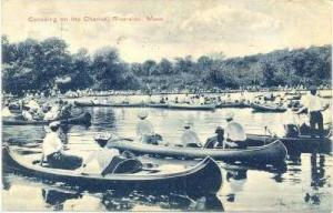Canoeing on the Charles, Riverside, Massachusetts,00-10s