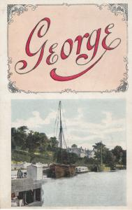 St Michaels Mount Cornwall Polperro Mythology Old Songcard Story Postcard