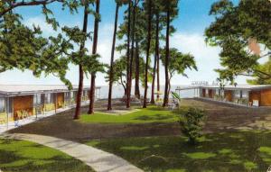 Gulfport Mississippi Worth Motor Lodge Street View Vintage Postcard K41707