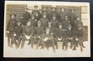 Mint Australia Real Picture Postcard RPPC Australian Soldiers Troops WWI