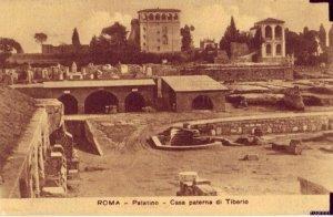 ROME, ITALY PALATINO - CASA PATERNA di TIBERIO