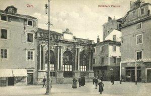 croatia, ZARA ZADAR, Biblioteca Paravia, Library (1910s) Postcard
