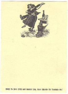 Beer Advertising postcard , 30-40s ; Bayern , Germany 1/10