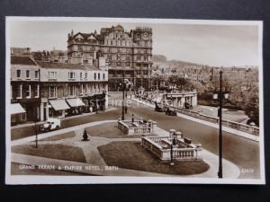 Somerset: BATH Grand Parade & Empire Hotel c1935 RP shows Cooperative Insurance