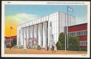 Chicago Worlds Fair 1933-1934 Admin Building Chicago Illinois Unused c1934