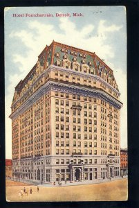 Detroit, Michigan/MI Postcard, The Hotel Pontchartrain, 1911!
