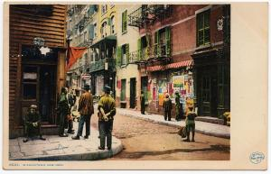 In Chinatown Manhattan New York NY NYC 1907-1915 15 Pell St. Chinese DB Postcard