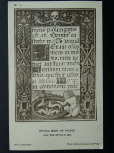 Sforza Book of Hours MENS PRONNGATHS - FERRET III.14 Old Postcard by O.U.P.