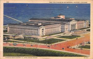 Field Museum of Natural History, Chicago, Illinois, Early Linen Postcard, Used