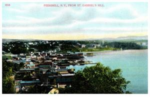 10458  Aerial View of  Peerskill   NY  from St.Gabriel's Hill