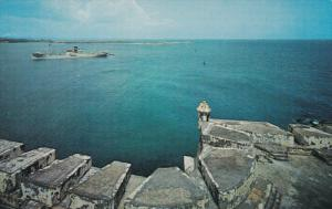 SAN JUAN, Puerto Rico, 1940-1960's; Entrance To San Juan Bay, View From Fort ...