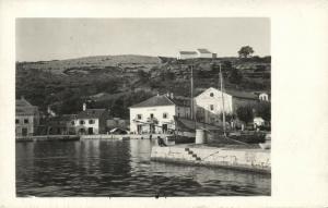 croatia, JABLANAC, Harbour Scene, Quay, Houses, Suratiste Babic (1930s) RPPC