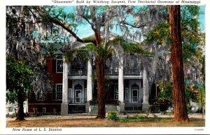 Mississippi Natchez Gloucester Built By Winthrop Sargent Curteich