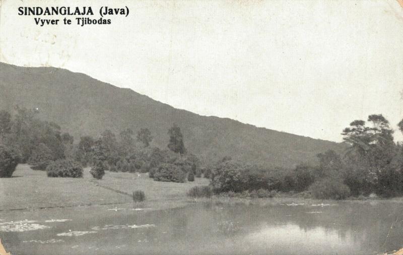 Dutch East Indies Indonesia Sindanglaja Java Vijver te Tjobodas 02.04
