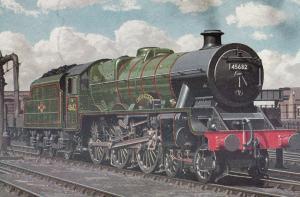 LMS Jubilee Class 4-6-0 45682 Trafalgar Train Old Postcard