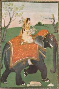 Woman on Elephant , India , 1995