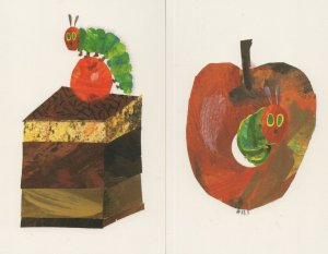 Love From The Very Hungry Caterpillar Eric Carle Book Postcard