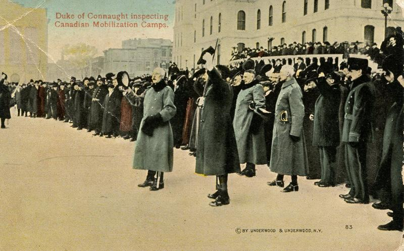 Canada - QC, Montreal. Duke of Connaught Inspecting Canadian Mobilization Cam...