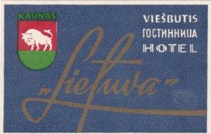 Russia Viesbutis Hotel Liefuva Vintage Luggage Label sk1685