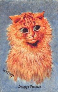 Louis Wain Cats Orange Persian C. W. Faulkner, publisher Postcard
