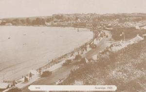 Swanage Dorset Flags Flying Vintage Repro 1925 View Rare Aerial Postcard