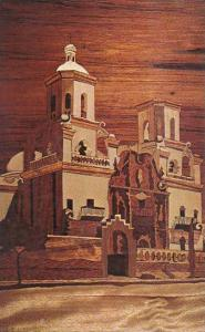 Wood Inlay Work, also calle Intarsia, K & C Suessner, Tucson, Arizona, 40-60s