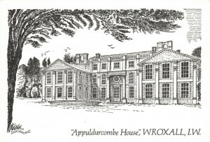 Art Sketch Postcard Appuldurcombe House Wroxall Isle of Wight by Don Vincent AS1