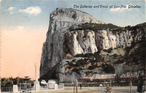 Galleries and Cross of Sacrifice Gibraltar Unused