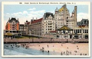 Atlantic City NJ~Hotel Dennis & Marlboro Blenheim~Saratoga Soda Water~1920s