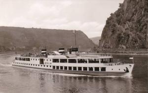 RP: Steamship M.S. Koln, Koln-Dusseldorfer Rheindampfschiffahrt 1960