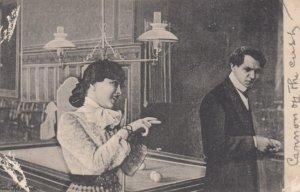 Couple , Billiards , 1904
