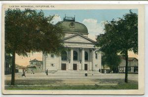 Lawton Memorial Savannah Georgia 1926 postcard