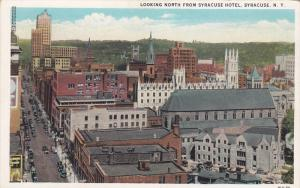 Looking North From Syracuse Hotel, Syracuse, New York, 1910-1920s