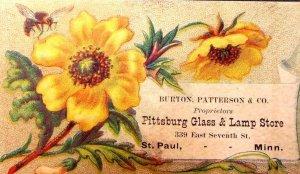 Burton Patterson & Co Pittsburg Glass & Lamp Store, Wildflowers Honey Bee D2