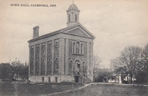 CALEDONIA, Ontario, Canada, 1900-10s; Town Hall