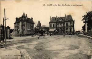CPA CAEN - La Gare St-Martin et ses Alentours (422321)