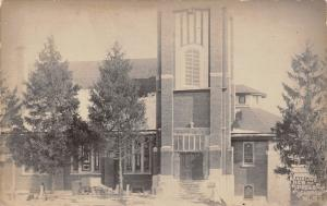 Brooklyn Iowa~New Presbyterian Church~HS McDonald Studio~c1912 Real Photo~RPPC