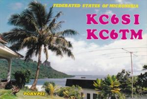 Micronesia Pohnpei Village Scene