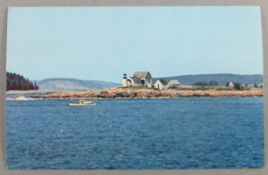 Mark Island Light From Schoodic Point Road, Winter Harbor ME Postcard (#6248)