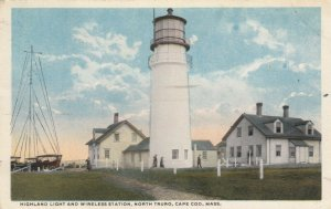 NORTH TRURO , Massachusetts , 1919 ; Highland LIGHTHOUSE & Wireless Station