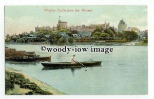 tq2341 - Berks - The Boats for Hire on Thames, near Windsor Castle - Postcard