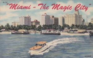 Florida Miami The Magic City Waterfront View Curteich