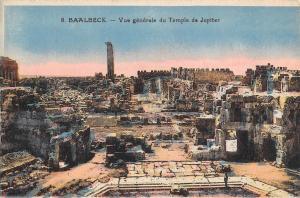 BR72634 vue generale du temple de  jupier  baalbek syrie syria