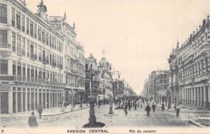 RIO DE JANEIRO BRAZIL~AVENIDA CENTRAL~A RIBEIRO B POSTCARD 1910s